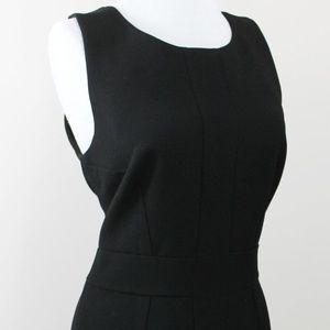 New Tracy Reese Black Back V Sheath Dress 8 Medium